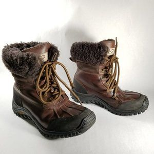 UGG Brown Leather Adirondack Waterproof Boots